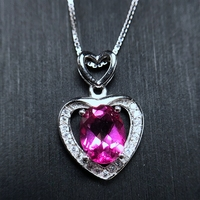 Love style colorful Necklace 925 silver jewelry design special selling Topaz 1.5ct