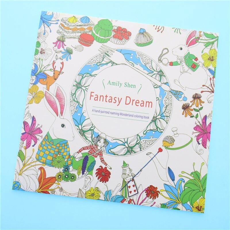 Фэнтези Мечта Цвет ing книжки-раскраски мандалы секретный сад с цветным рисунком Алиса в стране чудес 18,5*18,5 см 24 страниц