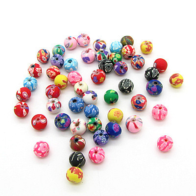 200pcs/lot Assorted Colors Polymer Clay Bead 6mm Ball Round Fimo Diy Jewelry Components Spacer Beads Jewellery Making Materials