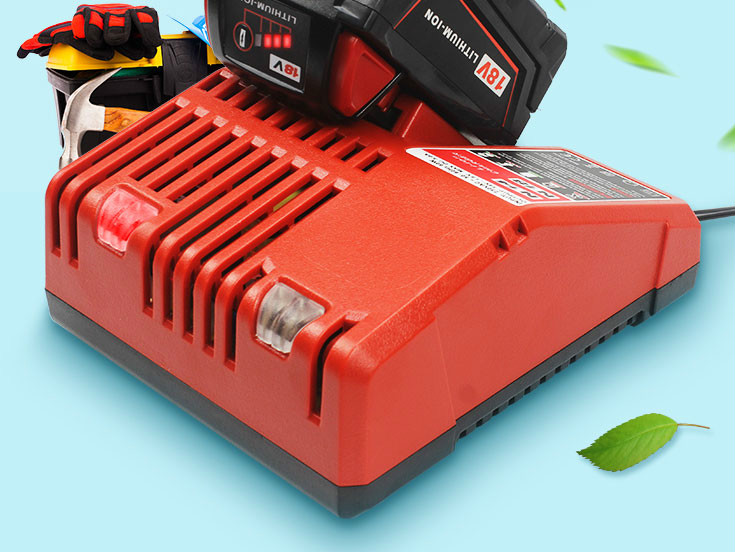 5000mAh 18V Li-Ion Replacement Battery for Milwaukee M18 XC 48-11-1815 M18B2 M18B4 M18BX M18BX with charger