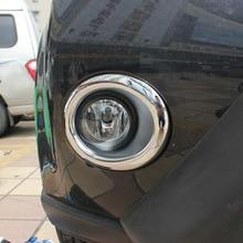 Per Nissan X-Trail T31 XTrail 2012 2013 accessori per auto Anteriore Cromato Fendinebbia Trim Rim Copertura Della Lampada ABS chrome Car-styling