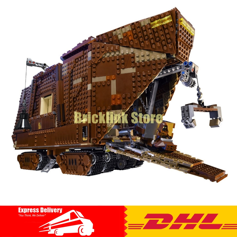 IN STOCK LEPIN Star Building Bricks Wars 05038 3346Pcs Figure Force Awakens Sand crawler Model Blocks Bricks Toy Gift 75059 in stock lepin 05038 3346pcs star force awakens sandcrawler wars model building kit blocks brick compatible 75059 children toy