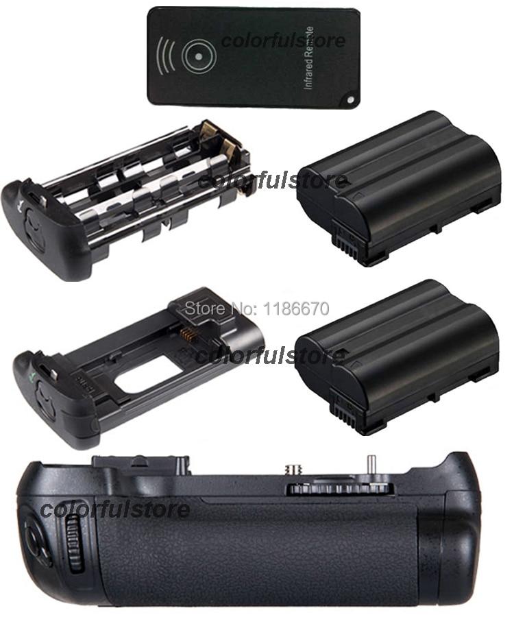 Vertical Power Shutter Battery Hand Handle Grip Pack Holder For Nikon D600 D610 DSLR Camera as MB-D14+Remote Control+2 x EN-EL15 new arrival battery handle hand grip pack holder vertical power shutter for nikon d750 camera as mb d16 2 x en el15 car charger