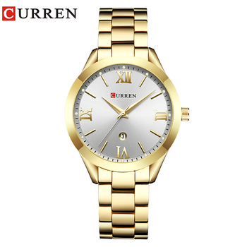 CURREN Simple  Fashion Stainless Steel Analog Quartz Wrist Watch Calendar Female Dress Watch Women Clock Relogio Feminino 9
