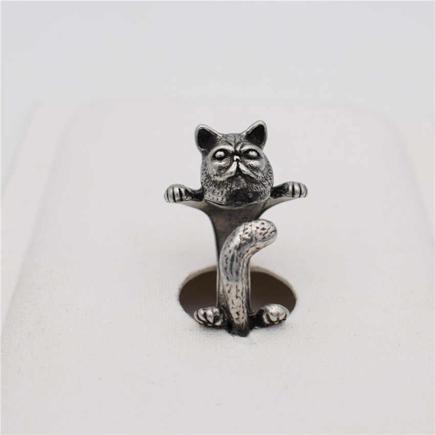 טבעות תכשיטי אופנה משובחת LPHZQH גארפילד חתול חמוד טבעת מתכווננת טבעת גברים נשים תכשיטי פאנק מתנת חג מולד