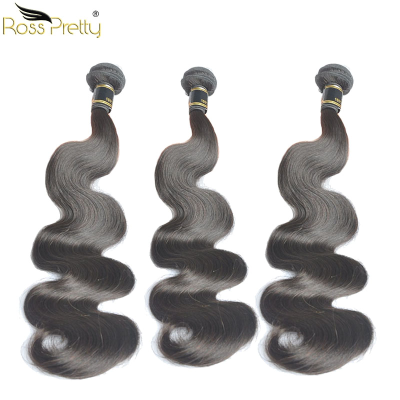 Ross Pretty Hair Indian Body Wave Natural Human Hair weave Indian Remy Hair Extension 3bundlesWholesale Price Quality Hair