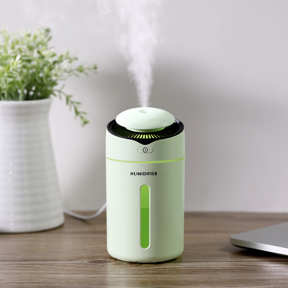 Image 5 - 300ml Mini I9 Humidifier With Probe Safety Mute Air Humidifier USB Clorful Night Light Diffuser For Home Office Car Air PurifierHumidifiers   -