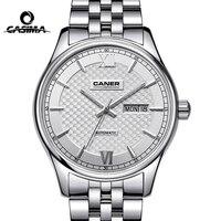 Casima marca semana data relógio mecânico homem safira de cristal negócio automático relógio de pulso à prova dwaterproof água relogio masculino|masculino|masculinos relogios|masculino watch -