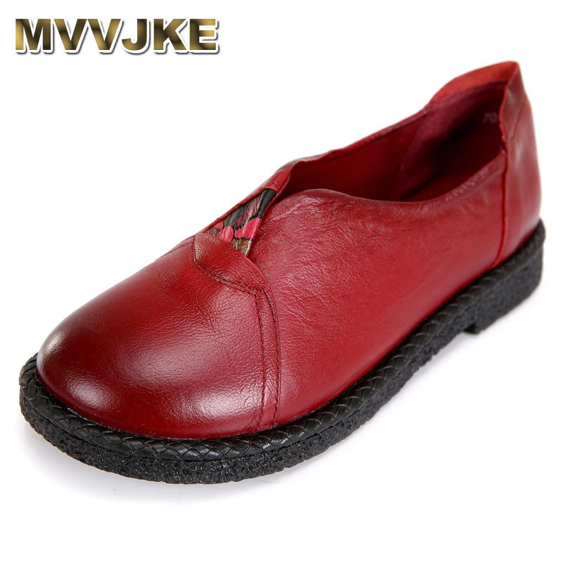 MVVJKE Women Genuine Leather Flat Shoes Woman Loafers 2018 New Fashion Women Casual Single Shoes Women Flats free shipping 2018 new summer high quality women shoes genuine leather flat casual comfortable single shoes loafers breathable
