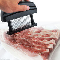 2016 Hot Sale 1pc 48 Sharp Stainless Steel Blade Knives Meat Tenderizer Two Color Kitchen Tool