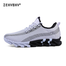 Zenvbnv 2018 Spring New Air cushioning Men Sneakers Male Running Shoes Trainers Lace-up Outdoor Athletic Sport Comfortable