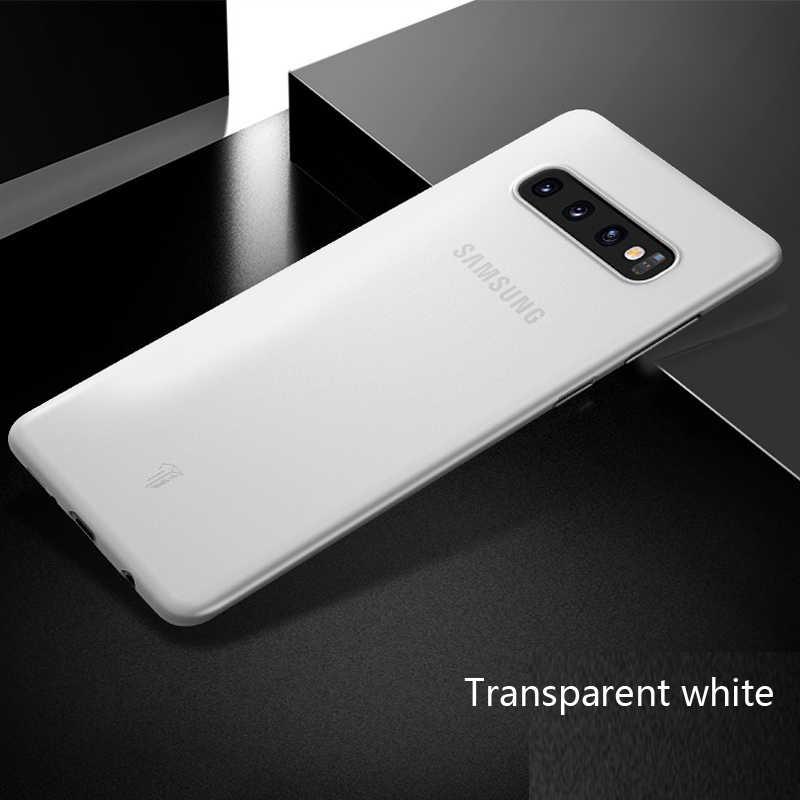 0.3 milímetros Caso Ultra Fino para Samsung Galaxy S10E S10 E S10 Plus S8 S9 Plus S6 S7 Nota Borda 8 Matte plástico rígido de volta Caso Capa