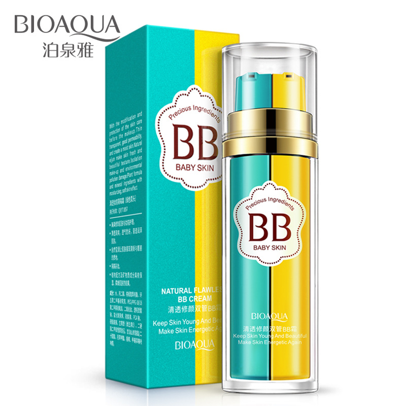 BIOAQUA BB Cream Liquid Foundation Makeup Primer 2 In 1 Base Maquiagem Make Up Flawless Corrector Nude Cosmetics tools miss rose 7ml mini concealer foundation base makeup repair nourish oil control liquid foundation nude make up bases maquiagem
