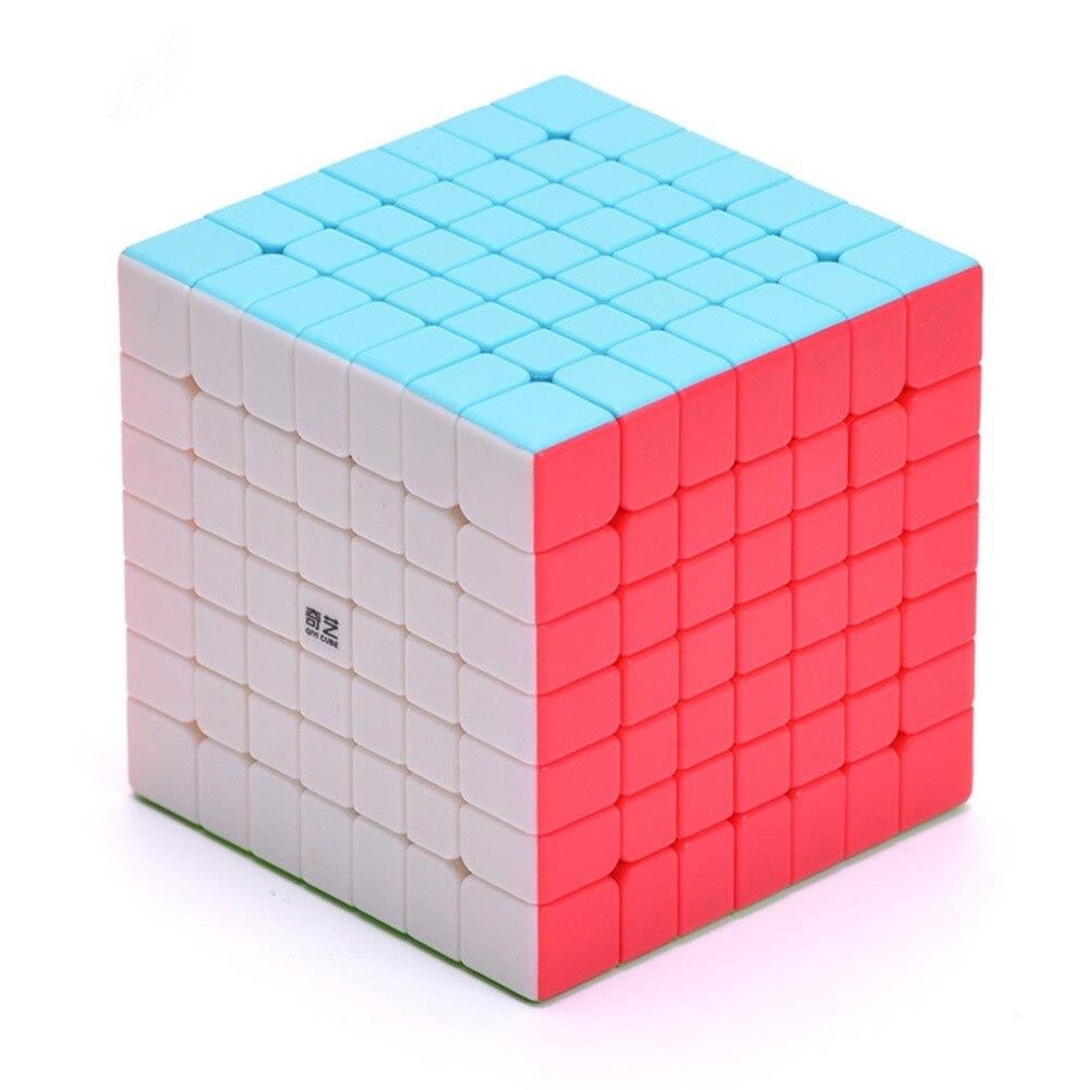 Qiyi qixing 7x7x7 velocidade cubo 7 camadas preto stickerless puzzle 7*7*7 brinquedos educativos para crianças