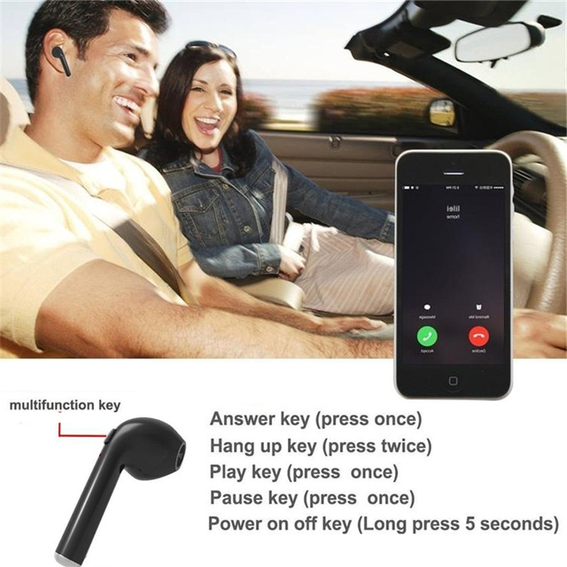 TWS In-Ear Wireless Earphone Bluetooth Headset Invisible Music Earbud With Mic For Apple iPhone Samsung Xiaomi Huawei Head Phone 4