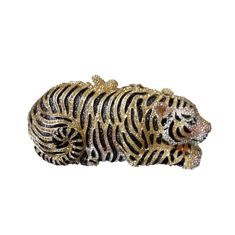 Nuevo Tiger Embrague Monedero y Bolso de Noche Pequeño Animal Bolsos para Las Mu