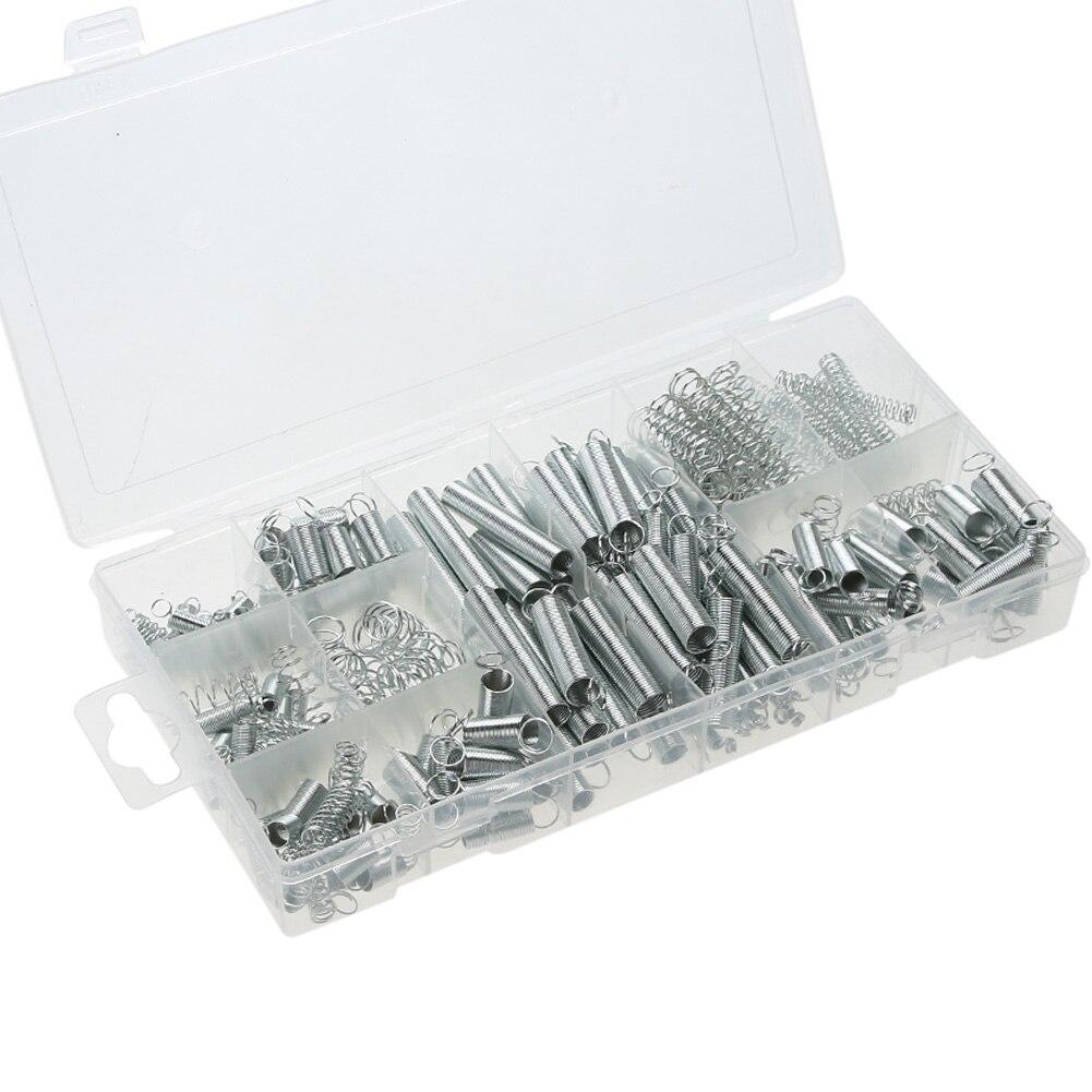 200 Pz/scatola Molla In Acciaio Hardware Elettrica Tamburo Estensione Molle di Trazione Pressione Vestito di Metallo Assortimento Kit Hardware Assortiti