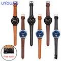 Alta qualidade genuína pulseira de couro 18mm curvatura do pino para a huawei watch