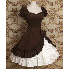 Style  style princess dress ball gown lace patchwork puff sleeve Lolita Court
