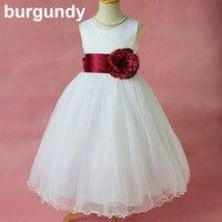 Enfants infantile vêtements petites filles satin robe pour partie fleur fille robes avec violet fruits vert bourgogne ruban pour mariages