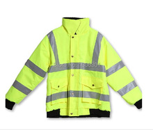 Reflective cotton-padded garments Safety protecting clothes Reflective working coat