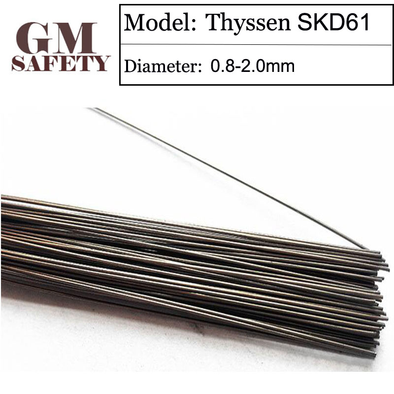 GM 1KG/Pack Thyssen SKD61 TIG Welding wires&Repairing Mould argon Soldering Wire for argon arc Welding (0.8/1.0/1.2/2.0mm) F049 1kg pack thyssen 738 tig welding wires