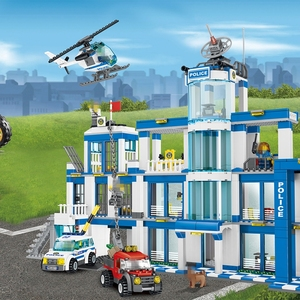 Image 5 - 1397pcs Anti Terrorism Action Model Building Blocks Compatible with City Police Station Series Sets Children boy Toys kids gifts