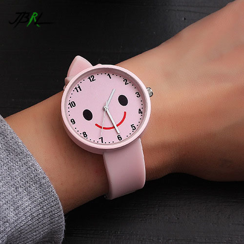 Women Watches Silicone Watch Ladies Fashion Smiley Pattern Quartz Wrist Watch for Women Clock Female Wristwatch Montre Relogio