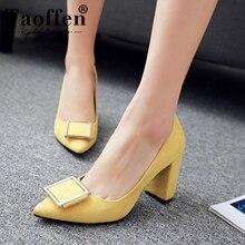 Taoffen Size 33-43 Women Pumps Shoes Buc