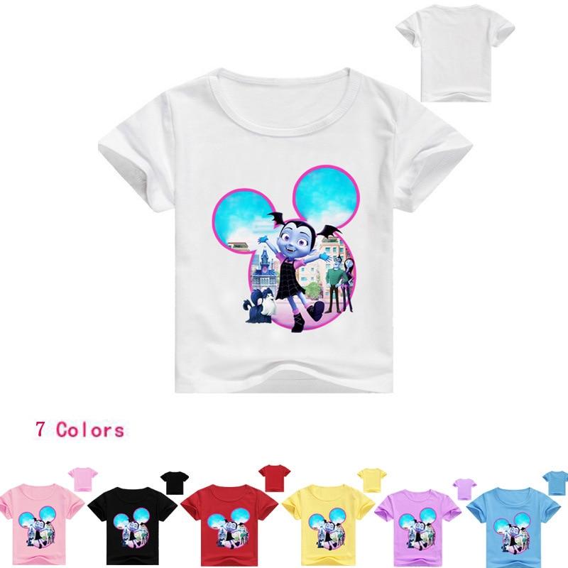 Z&Y 2-16Years Bobo Choses 2018 Summer Junior Vampirina Shirt Girls Tops T-shirt Baby Boys Tshirts Camiseta Infantil Novatx T010