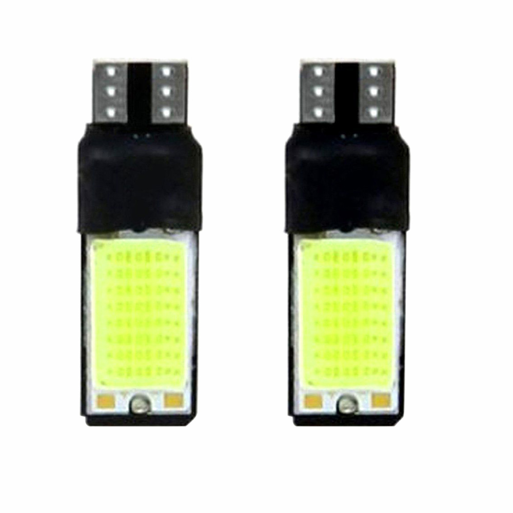 New 2x T10 LED 194 168 W5W COB Interior Bulb Light Parking Backup Brake Lamps Pop 2x car led w5w t10 194 clearance light for lada granta vaz kalina priora niva samara 2 2110 largus 2109 2107 2106 4x4 2114 2112