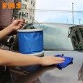 Автомобильный Портативный Пластиковые Складные Ведро Автомойки Ведро Синий Телескопическая Баррель Открытый Отдых Стиральная Рыбалка Ведра Воды