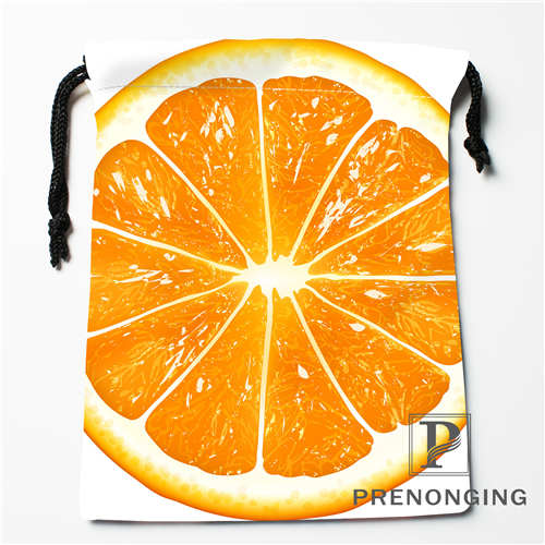 Custom Fruit Slices Drawstring Bags Printing Fashion Travel Storage Mini Pouch Swim Hiking Toy Bag Size 18x22cm #171203@2-01