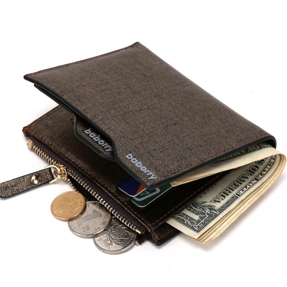 2019 férfi pénztárca érme táska cipzár azonosító hitelkártya tartó Faux bőr bifold érme erszényes top márka pénztárca zsebek promóciós ajándék