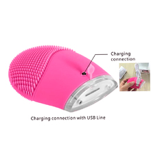 Silicone Vibrate cleansing Brush instrument massager Beauty Equipment Face massager Ultrasoni Electric Face cleanser massager