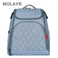 MOLAVE Backpack Women Solid Backpacks Female Waterproof Mom Baby Diaper Bag Large Fashion Maternity Nappy Bag