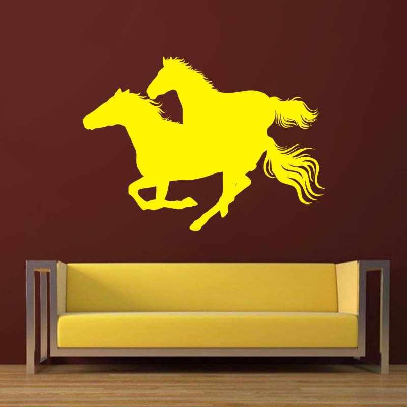 DCTAL الحصان جدار ملصقا El كابالو صائق شيفال الملصقات الفينيل جدار ملصقات فنية Pegatina سيارة صائق ديكور جدارية الحيوان ملصقا