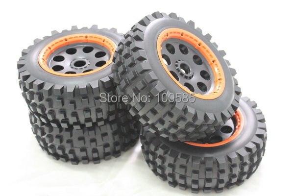 Км для 1/5 весы КМ Baja 5 T пустыня T1000 шины передние и задние колеса и шины 4 шт./компл