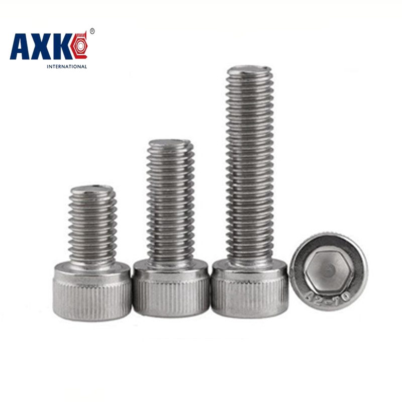 Vis Wood Screws Axk 50pcs/lot Din912 M3*5/6/8/10/12/14/16/18/20/25/30 Stainless Steel 304 Hexagon Hex Socket Head Cap Screw 250pcs set m3 5 6 8 10 12 14 16 20 25mm hex socket head cap screw stainless steel m3 screw accessories kit sample box
