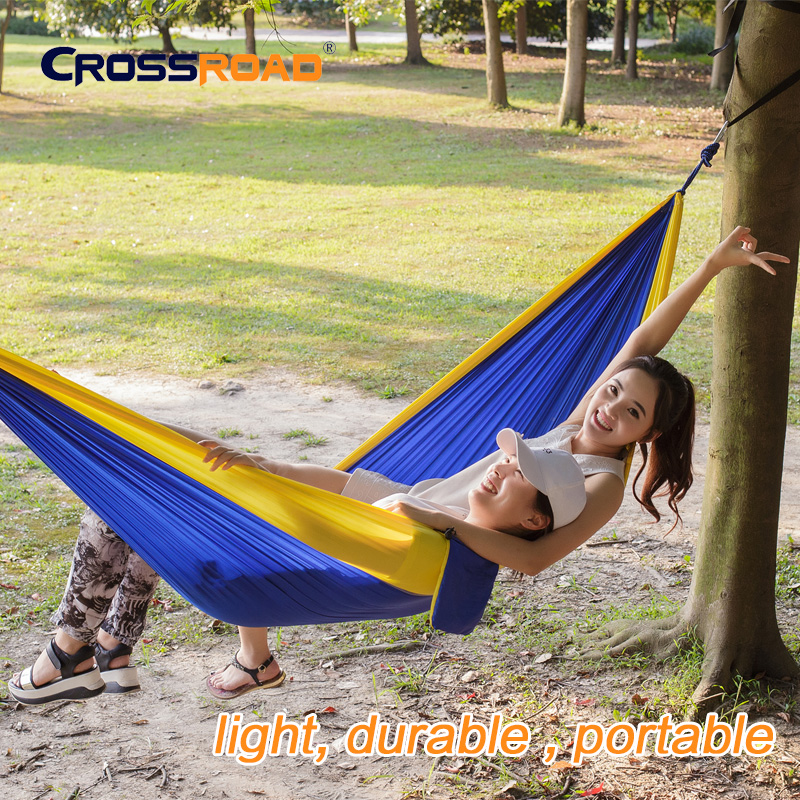 double garden swing hanging chair 2 person Hammock Outdoor camping sleeping bed parachute nylon rede portable indoor hamaca kids sgodde assorted color hanging sleeping bed parachute nylon fabric outdoor camping hammocks double person portable hammock