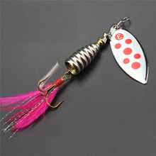 1PCS Rotating Metal Spoon Lure 9CM/12G  Stickbait Savage Gear Wobbers Popper Pesca Isca Winter Fishing Bait for Fishing Tackle