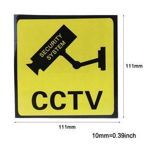 Étiquettes autocollantes système de sécurité CCTV | Étiquette autocollante de sécurité, autocollant étanche 111mm, 10 pièces