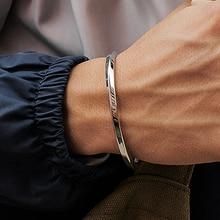 Mcllroy стальной C образный браслет Браслеты Мода титановая сталь манжета браслет для женщин Тип C скрученный браслет браслеты мужские