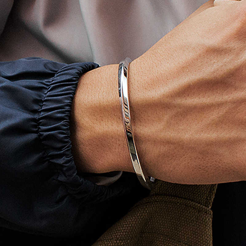 Mcllroy Steel C Shaped Bangle Bracelets Fashion Titanium Steel Cuff Bangle for Women Type C twisted Bangle Bracelets 2018 mens