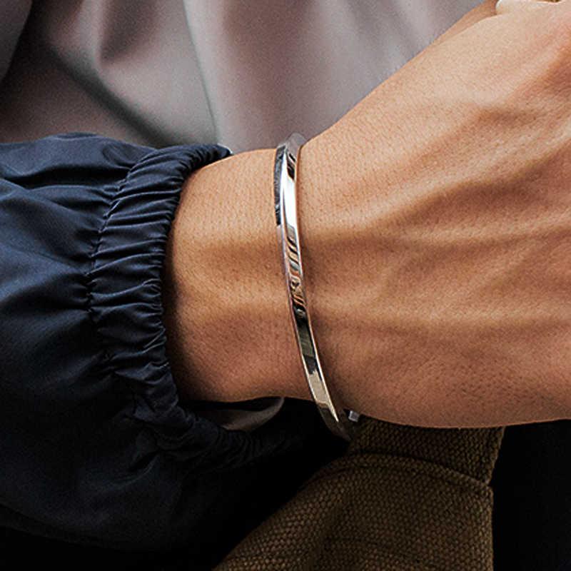 Mcllroy פלדה C בצורת צמיד צמידי אופנה טיטניום פלדת קאף צמיד לנשים סוג C מעוות צמיד צמידי 2018 mens