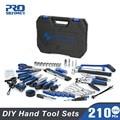 PROSTORMER 210 stücke Hand Tool Set Allgemeine Haushalts Reparatur Werkzeug Kits mit Lagerung Toolbox Hammer Schraubendreher Messer hand werkzeuge-in Handwerkzeug-Sets aus Werkzeug bei