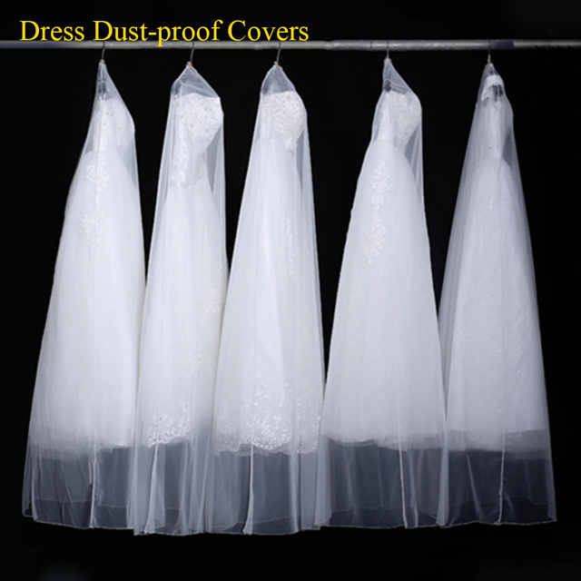 Dust Proof Garment Bag For Bride Gown / Wedding Dress Garment Cover