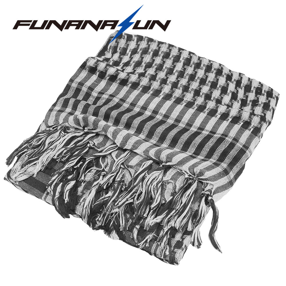 Outdoor Sport Quick Drying Hiking Head Scarves Military Arab Tactical Desert Scarf Army Shemagh With Tassel Men Climb Neck Wrap Consumers First Art Glass