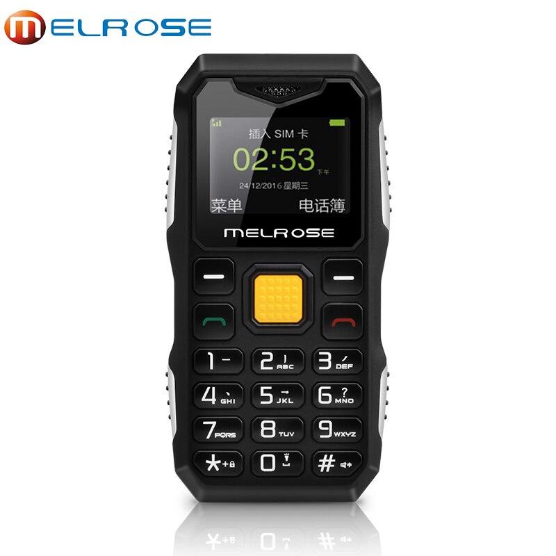 Оригинальный melrose S10 мини телефон MP3 Bluetooth ультра-тонкий 1.0 дюйма Прочный Открытый противоударный пылезащитный телефон