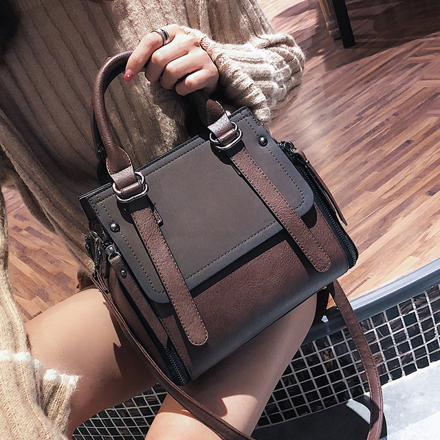 b2341ed8249d European style Fashion New Women Handbags 2019 High quality Matte PU  Leather Portable Shoulder bag Ladies